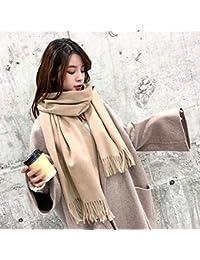 ZLULU écharpe Foulard Automne Et Hiver Foulard Femme Sauvage Double Usage  Épaississement Mode Simple Châle Modèles ff60ff74f74