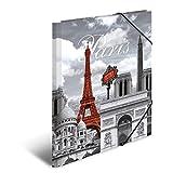 Herma 7266 Sammelmappe DIN A4 Kunststoff, Motiv Frankreich Paris, Serie Städte, Eckspanner, 1 Zeichenmappe