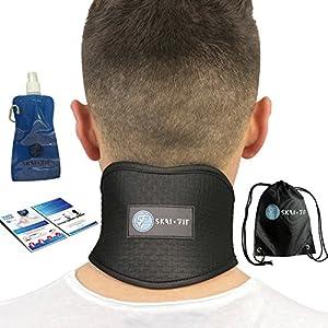 SKAI FIT Nackenstütze, Nackenwärmer, Nackenbandage für nackenschmerzen, Muskelschmerzen um Hals und Schulter mit hohe Qualität Turmalin und Magneten selbstwärmend und verstellbare Cervicalstütze