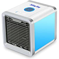 Mini-condizionatore portatile con porta USB e funzione 3in 1,climatizzatore, umidificatore e purificatore d'aria, ventilatore da tavolo per ufficio, hotel, garage, casa, ecc