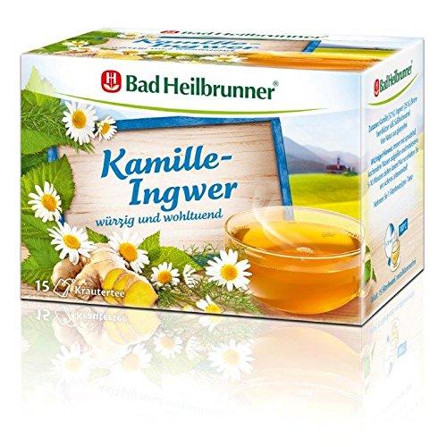 Bad Heilbrunner Kamille-Ingwer Tee, 15er Filterbeutel, 1er Pack (1 x 30 g)