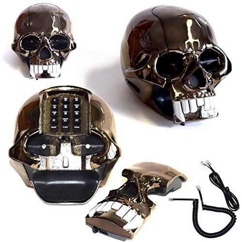 (272) Skull Design phone Totenkopftelefon Totenkopf Telefon Telephone