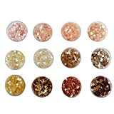 #7: eshoppee sequins sitara, 5gm x 12 box,for jewellery making art and craft diy kit, Glitter Sequins Rhinestones Beads Assorted Colours (peach family)