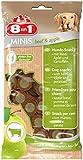 8in1 Minis Mega-Selection Hundesnacks (fettarm, glutenfrei, zuckerfrei, zehn verschiedene Sorten, Huhn Rind Lamm Kaninchen Pute Ente Hirsch Fisch), 1 kg Beutel (10 x 100g) - 38