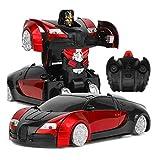 Nandy liting Auto telecomandata, Giocattolo per Bambini, Modello Robot Automatico di deformazione, Auto deformazione a Un Pulsante