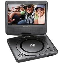 Sunstech DLPM728BK - Reproductor portátil de DVD (abatible, USB), color gris oscuro