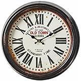 Reloj de pared clásico negro de metal para decoración France - Lola Derek