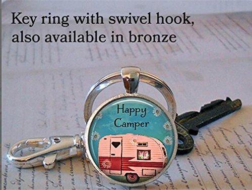 Happy Camper Schlüsselanhänger, Happy Camper Schlüsselanhänger, Schmuck, Happy Camper Camping Trip, Camping Schlüsselanhänger Schlüsselanhänger Schlüsselanhänger