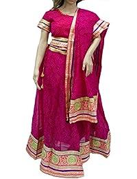 Ratnatraya Chiffon Pink Women's Lehenga Choli Heavy Laces | Latest Designer Party Wear Heavy Laces