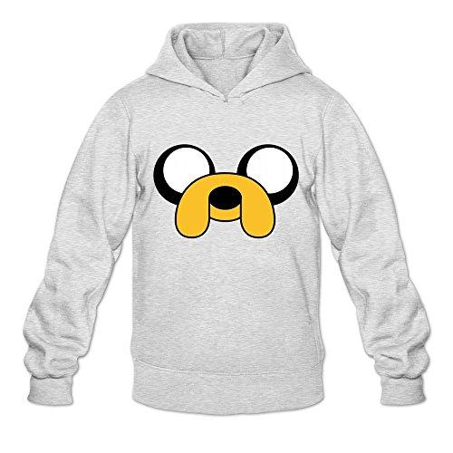 Buluew Herren Spring Adventure Time Jake der Hund Hoodies Sweatshirt Größe US Weiß -
