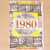 Geburtstagskarte 1980 mit Video-CD Jahreschronik