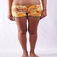 L.Bolt Old Flower Pantalones Cortos de Surf, Mujer, Amarillo, M