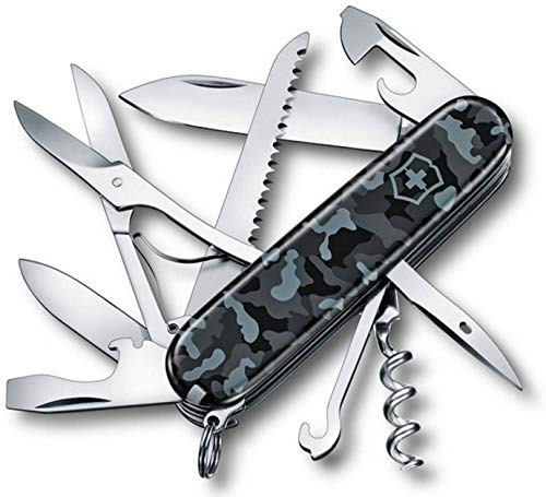 Victorinox Huntsman Couteau de Poche Ciseaux Scie Bois Tire-Bouchon