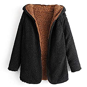 Oasics doppelseitiger Damenmantel aus Samt Plus warme, einfarbige, langärmelige warme Jacke mit Samt S-L