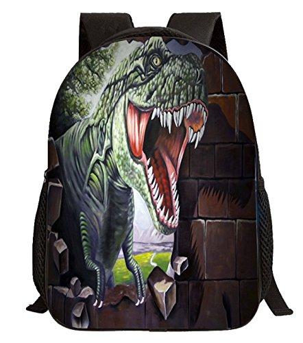 Imagen de happy cherry 3d animal  dinosaurio estampado bolso infantil para niños niñas escuela guardería, patrón 1