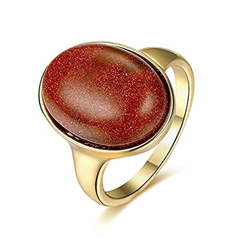 Thumby Tin Alloy Antique Gold Plated 6g Trendy Gemstone Ring