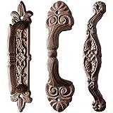Esschert Diseño manija de puerta, pomo de puerta de hierro fundido, largo, surtidos, 1pieza, 5,3cm x 6,4cm x 24cm
