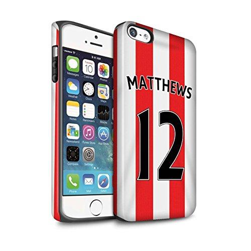 Offiziell Sunderland AFC Hülle / Matte Harten Stoßfest Case für Apple iPhone 5/5S / Pack 24pcs Muster / SAFC Trikot Home 15/16 Kollektion Matthews