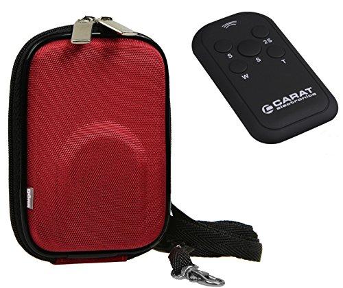 Foto Kamera Tasche YOUR BOX rot Set mit infrarot Fernbedienung für Canon Ixus 190 185 180 285 275