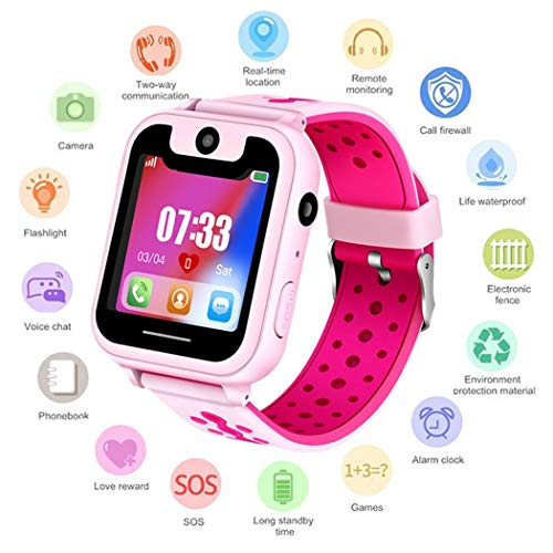 Keptei Kinder Smart Watch Phone Kamera Anruf Anti-verlorene SOS Tracker Sportuhr Running GPS-Geräte