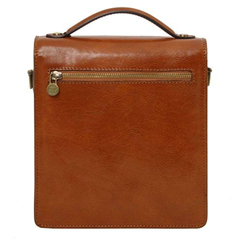 Tuscany Leather David - Borsello in pelle a tracolla - Misura piccola Nero Borse uomo in pelle Nero