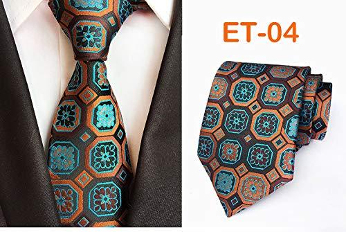 Preisvergleich Produktbild Sahisdi Krawatte für Männer,  8cm Mode Enge Krawatte 100% Seide Jacquard Blumenstrauß Krawatte Herren Bräutigam Business Krawatte Zubehör Krawatte Machen, 4