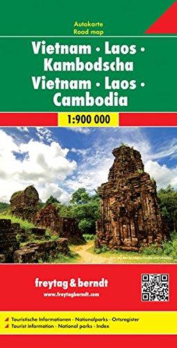vietnam, Laos y Camboya mapa de carreteras. Escala 1:900.000. Freytag & Berndt.: Wegenkaart 1:900 000 (Auto karte) por VV.AA.