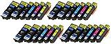 24 XL Druckerpatronen mit CHIP und Füllstandanzeige für Epson Expression Premium XP-510, XP-520, XP-600, XP-605, XP-610, XP-615, XP-620, XP-625, XP-700, XP-710, XP-720, XP-800, XP-810, XP-820