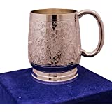 """Anand Crafts Silver Plated Brass Beer Mug 3"""" x 4.5"""""""
