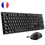 【Version Innovante】Clavier Souris Sans Fil...