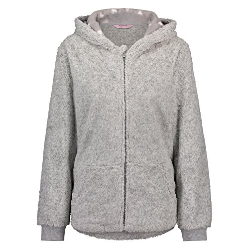 Hunkemöller Damen Cardigan Fleece Koala 119343 Grau S (Fleece-cardigan)