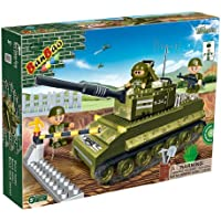 Banbao Construction Building Bricks Blocks 260 Piece Sherman Military Tank - Can Use With Leading Brands - Entertaining Activity Toys & Games Age 5+ Top Selling Boy Children Boys Child Kids - Wonderful Idea for Christmas Easter or Birthday Present Gift - Compare prices on radiocontrollers.eu