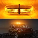 Ralbay Rundumleuchte Orange Warnleuchte 240 LED Blinkleuchte 12V für SUV LKW KFZ ATV Jeep alle Autos Polizei Feuerwehr mit 7 Blitzmuster Magnetfuß 1 Stück