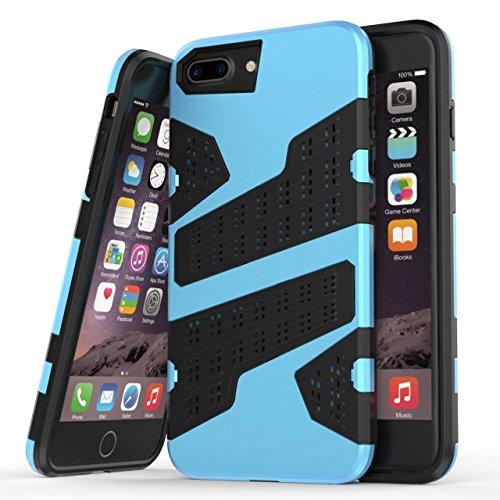 """iPhone 6 Plus 6S Plus Coque,iPhone 7 Plus Coque,Lantier 2 en 1 Combo Armor avec Air Hole Design Anti chocs léger Protecteur Defender pour iPhone 6 Plus/6S Plus/7 Plus 5.5"""" Or Mint Blue"""