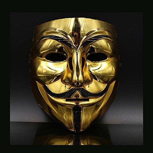 Kostüm Dance Golden - CXZC Erschreckende Halloween-Maske Cosplay Goldenes Licht lächelnd Unisex Pharao-Maske für Halloween Dance Party