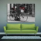 tzxdbh Wandkunst leinwand gemälde drucke auf Retro Fahrrad wandbilder Druck für Wohnzimmer Kunst...