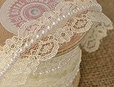 RIBBON QUEEN Premium Qualität Spitzenband Spitze pearl perlen Band-ordnung. Hochzeiten