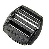 Unbekannt Bergbuckle Set 50 mm oder 25 mm von Berghaus Ersatz-Schnalle für Rucksack Buckle für 5 cm oder 2,5 cm Gurte (schwarz, 50 mm)