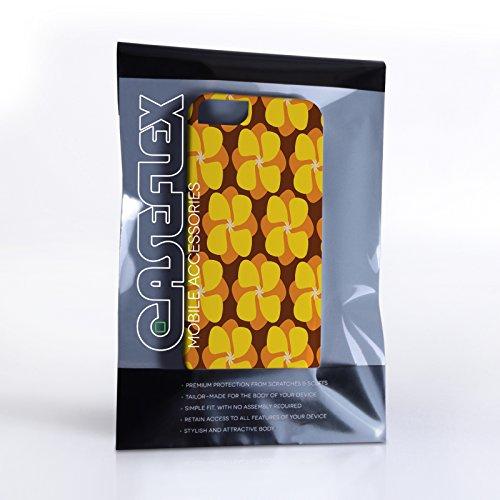 Caseflex Coque iPhone 5 / 5S Etui Jaune Bouton d'or Dur Housse