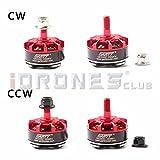 GARTT 2 Pairs QE2205C 2300KV Brushless Motor 3-4S For FPV Racing Mini Drones QAV250 Quadcopter