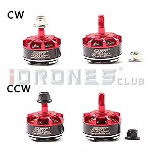 GARTT 2 Pairs QE2205C 2300KV Brushless Motor 3-4S For FPV Racing Mini Drones QAV250 Quadcopter by Gartt