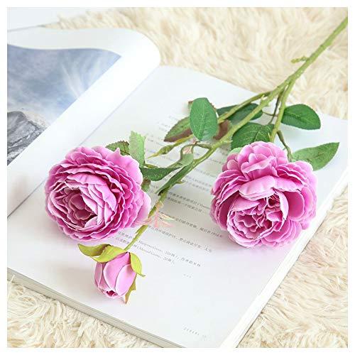 Valentine 's Beste Geschenke !!! Beisoug Künstliche Gefälschte Western Rose Blume Pfingstrose Brautstrauß Hochzeit Home Decor (61 cm)