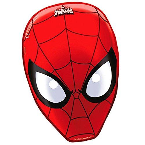 Ciao Procos 81535-Masken Papier Ultimate Spider Man, 6Stück, rot