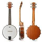 MECO 23 '' Banjo Ukulele Professionelles Konzertmusik Runder Nylon Saiteninstrument Country Style