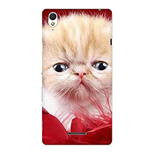 Cute Kitty In Red Fur Back Case Cover for Sony Xperia T3