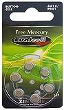 Eunicell 120 x A312/PR41 Hörgeräte-Batterie Quecksilberfrei (20 Blistercard = 120 Batterien)