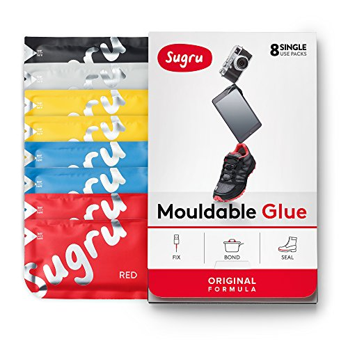 Sugru Original - Pegamento Moldeable, Multicolor, 8 paquetes