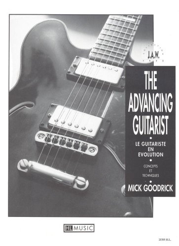 Advancing guitarist