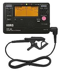 KORG TM-50C, Chromatisches Stimmgerät / Tuner und Metronom inkl. Kontaktmikrofon, schwarz