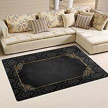 Suchergebnis Auf Amazon De Fur Teppich Schwarz Gold